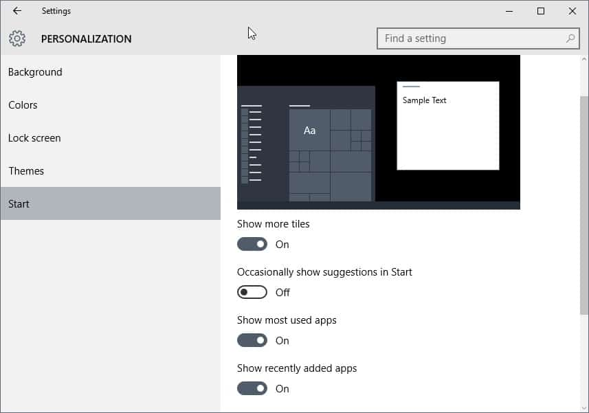 windows 10 search suggestions