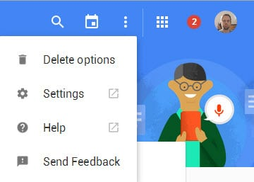 delete options settings