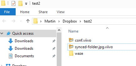 Viivo encrypts files automatically before they are synced