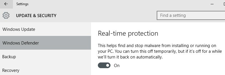 real-time protection