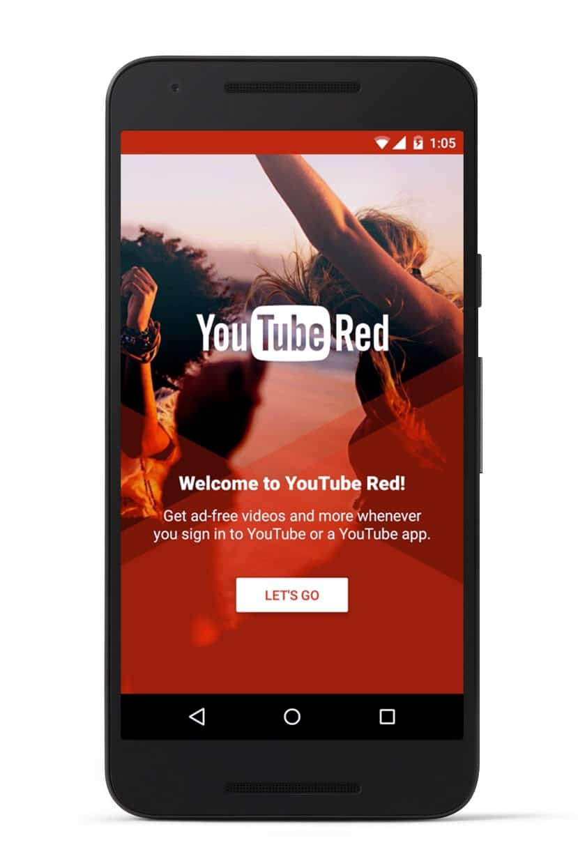 YouTube Red mobile app