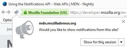 would you like to show notifications from this site