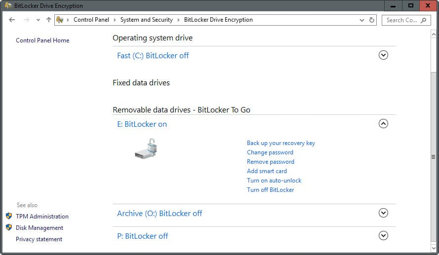 bitlocker management