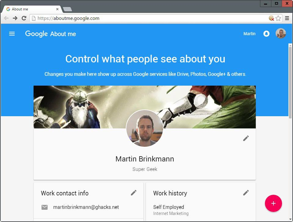Edit your online visibility with Google About Me