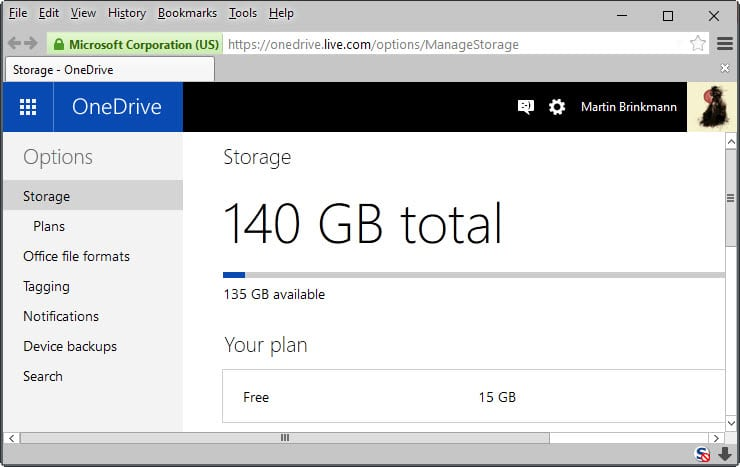 Microsoft announces OneDrive storage plan downgrades
