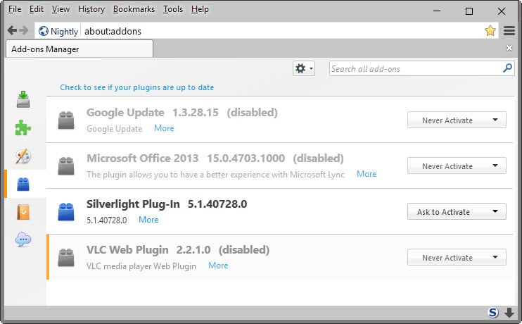Firefox 64-bit to support Microsoft Silverlight after all - gHacks