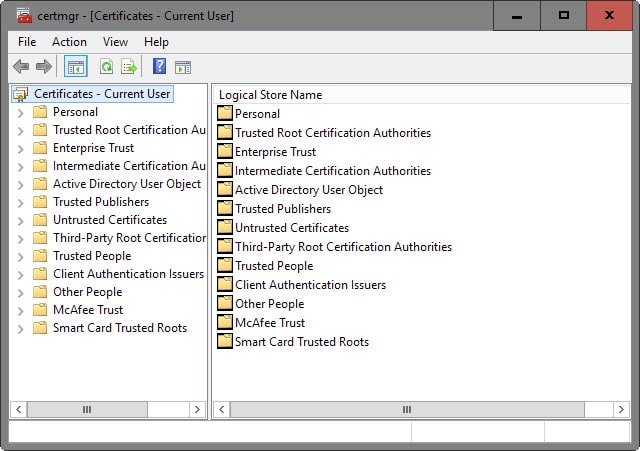 windows certificate store