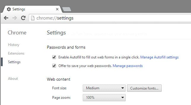 chrome offer to save passwords