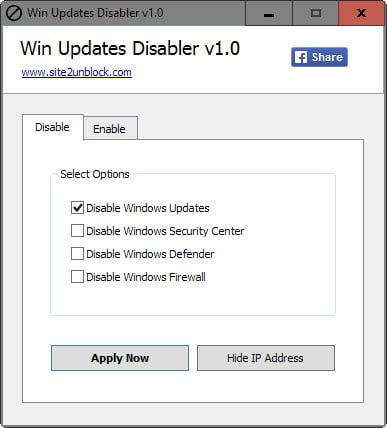 disable firewall windows 7