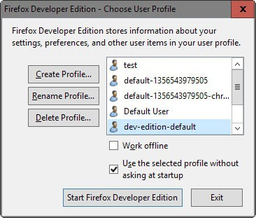 firefox classic profile manager