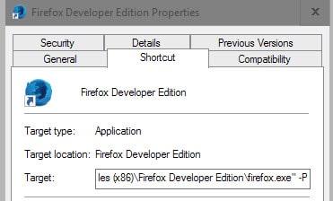 firefox shortcut