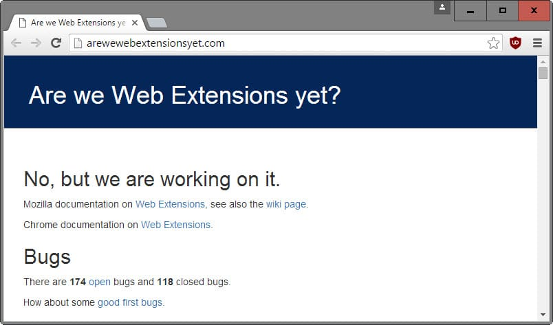 Mozilla: WebExtensions are great for developers