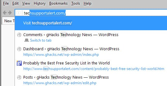 remove visit firefox search