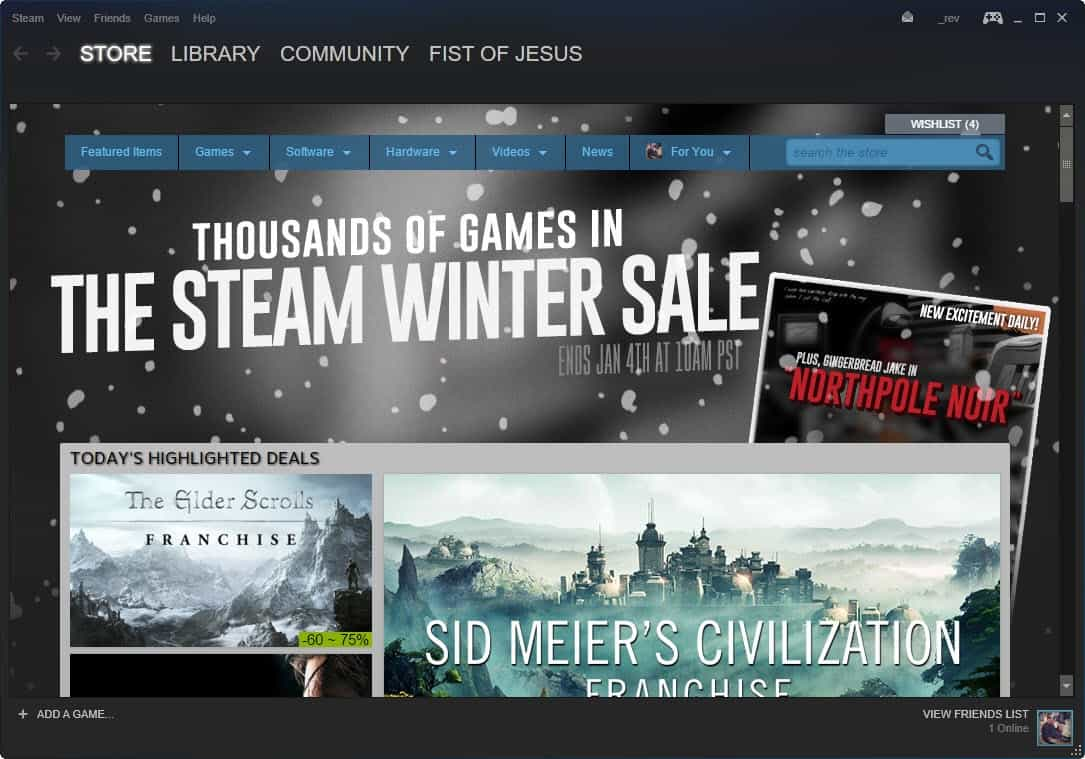 Steam Winter Sale 2015 is on