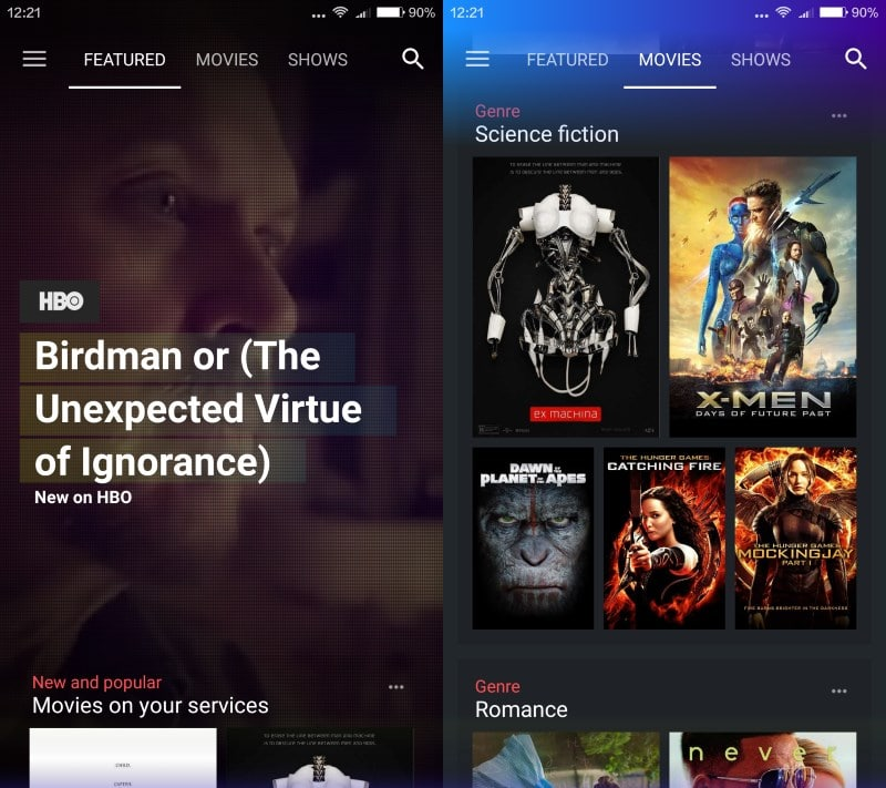Yahoo Video Guide: search for movies and TV shows across streaming services