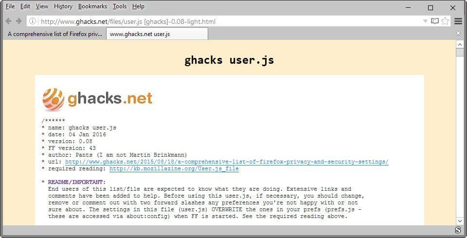 ghacks user.js