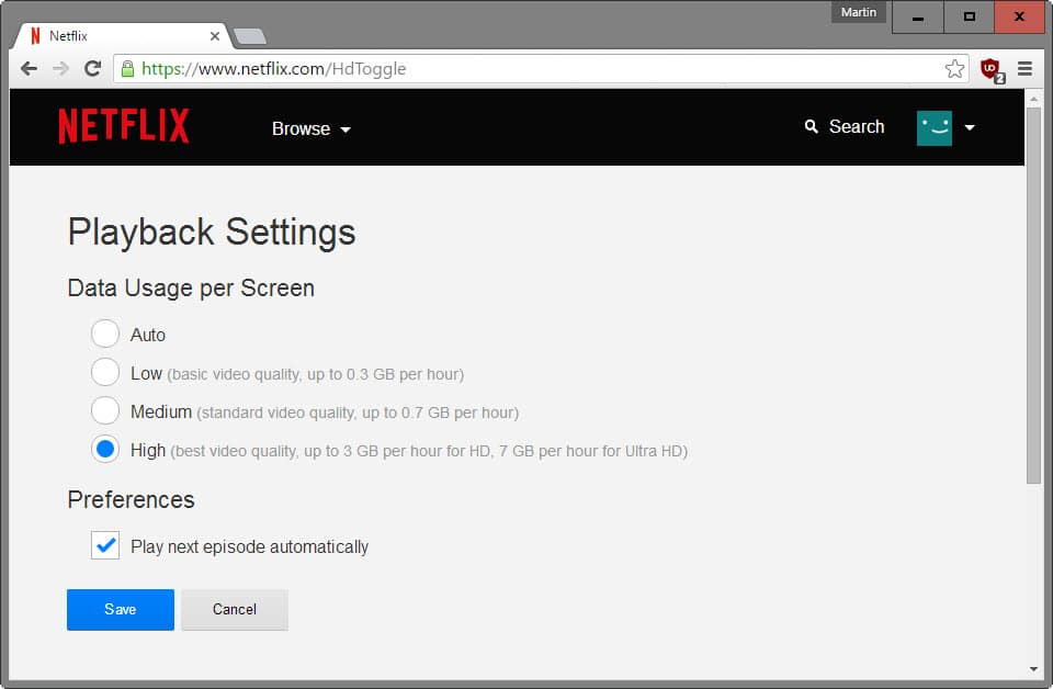 Want 1080p playback on Netflix? Don't use Firefox or Chrome - gHacks