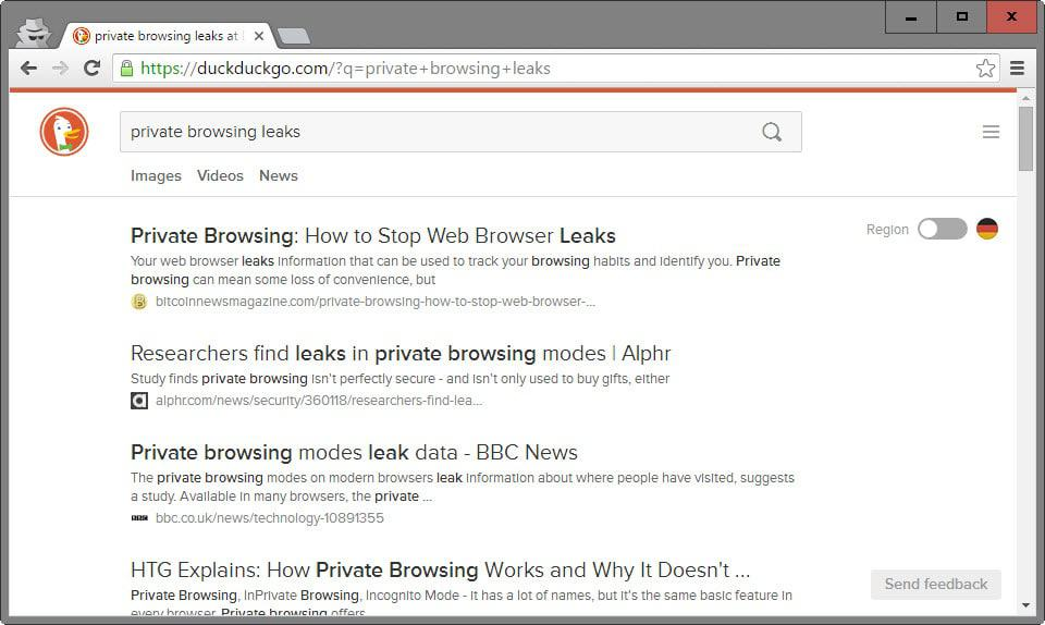 private browsing leak