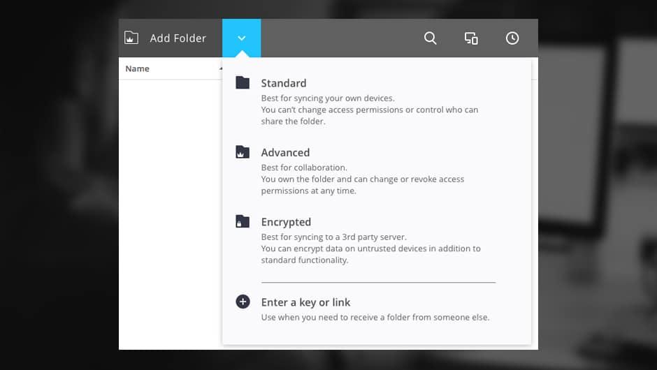 sync encrypted folder