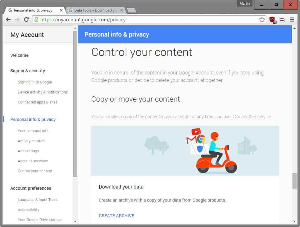 google control content