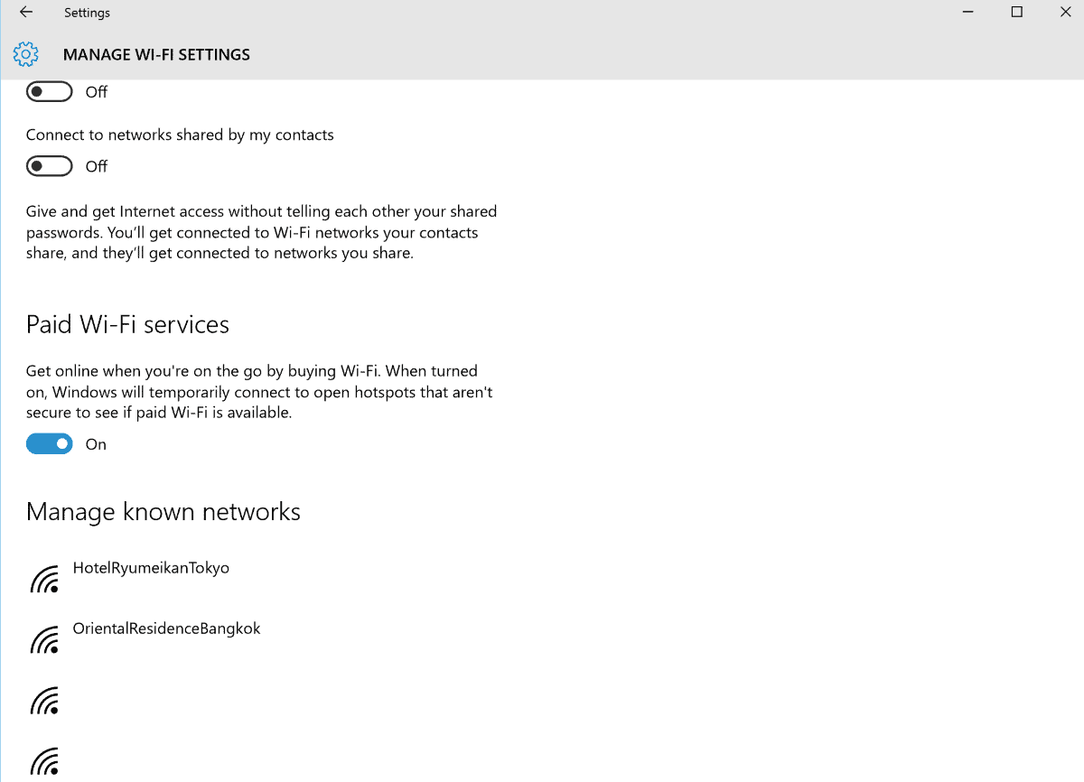 manage wi-fi settings