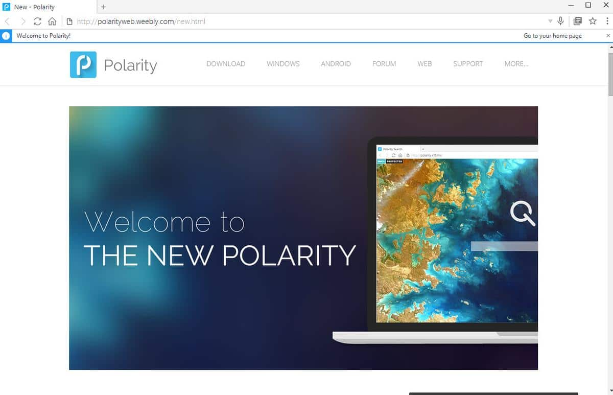 First look at dual-engine web browser Polarity - gHacks Tech