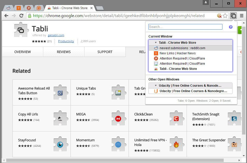 tabli tab manager chrome