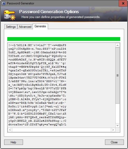 unique passwords