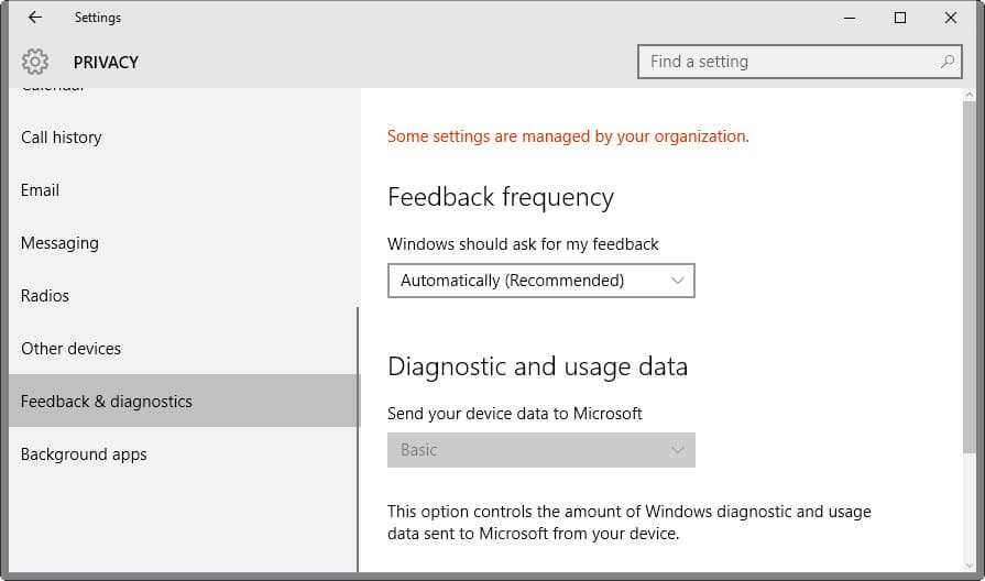 Microsoft will change Diagnostic Data (Telemetry) Naming in Windows 10