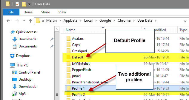chrome profiles