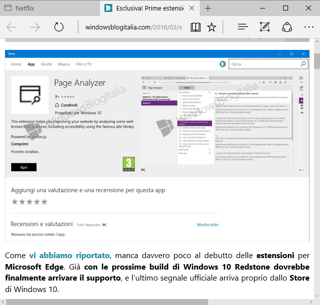 New Information about Microsoft Edge Extensions