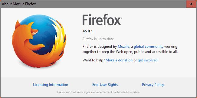 firefox 45.0.1