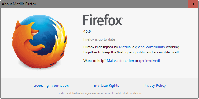 Firefox 45: Find out what is new