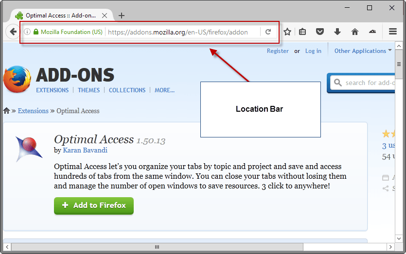 firefox location bar