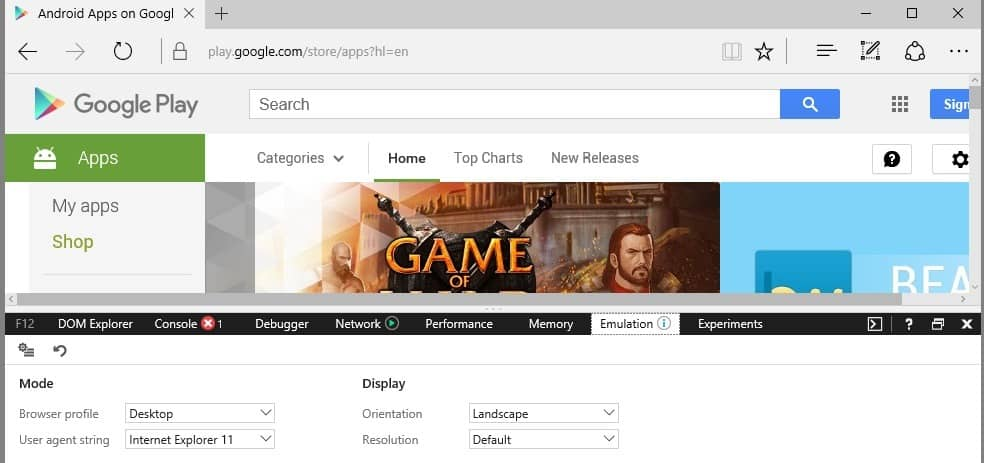 google play with search