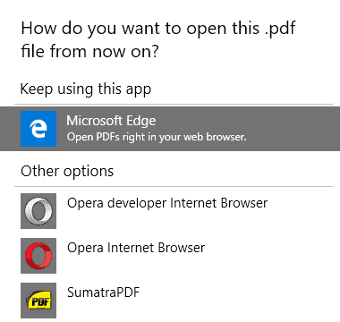 save as pdf not microsoft edge pdf