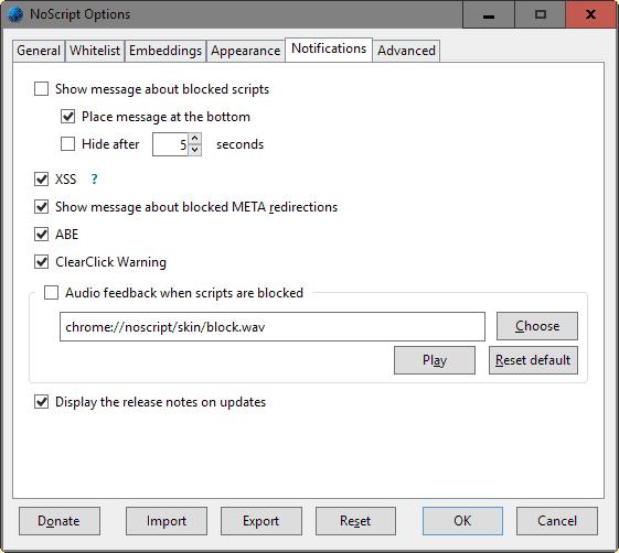 noscript notifications