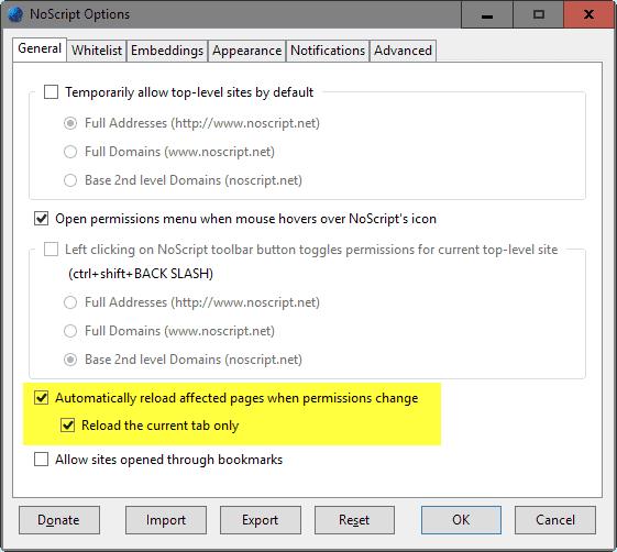 noscript reload
