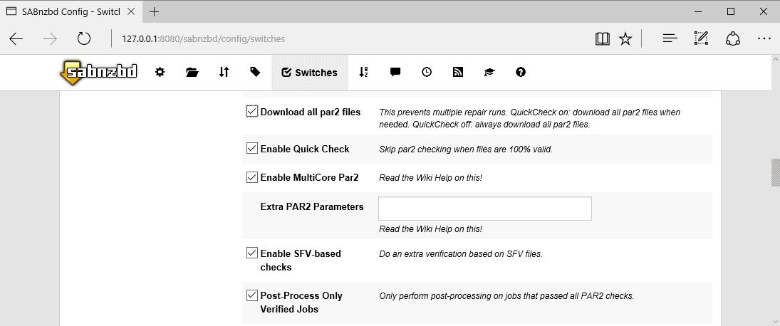sabnzbd post processing