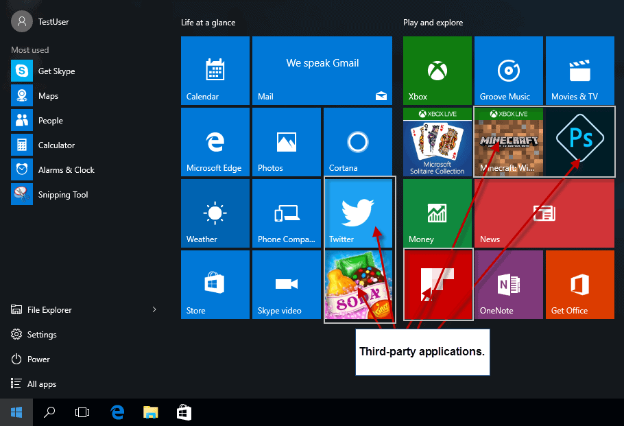 third party apps windows 10