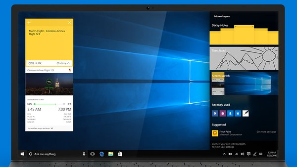 windows 10 anniversary update ink
