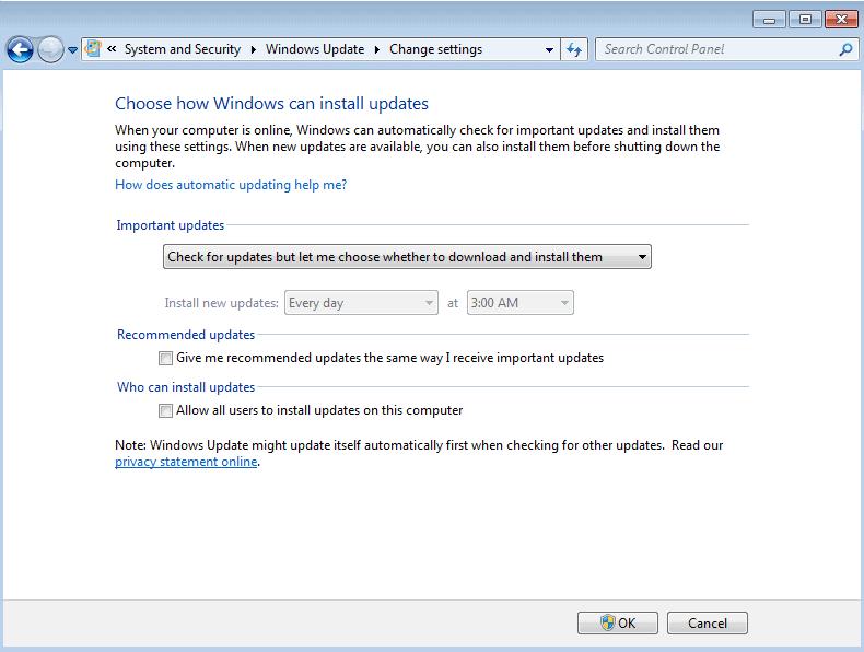 windows manual updates