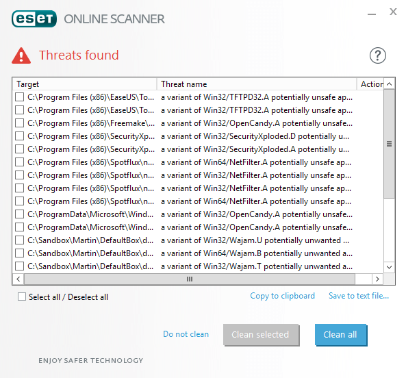 eset online scanner security