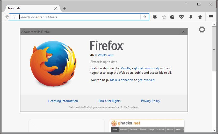 firefox 46.0