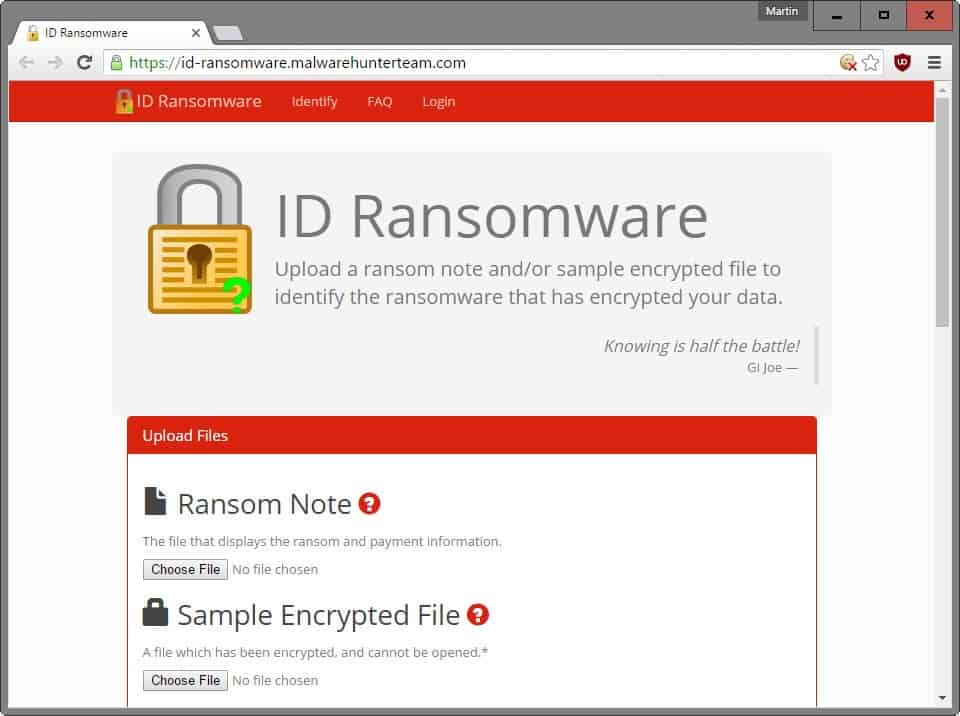 id ransomware