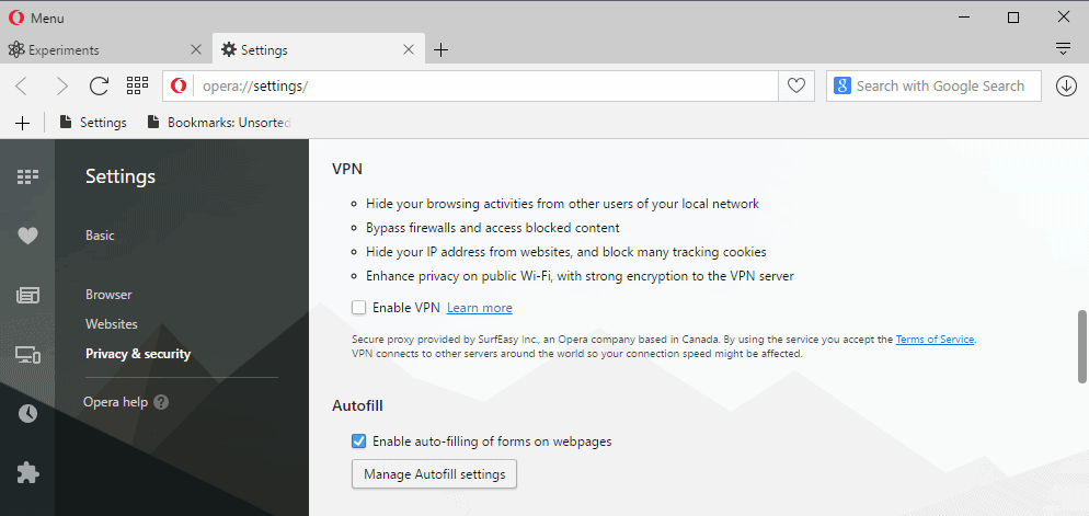 Opera ships with free VPN client - gHacks Tech News