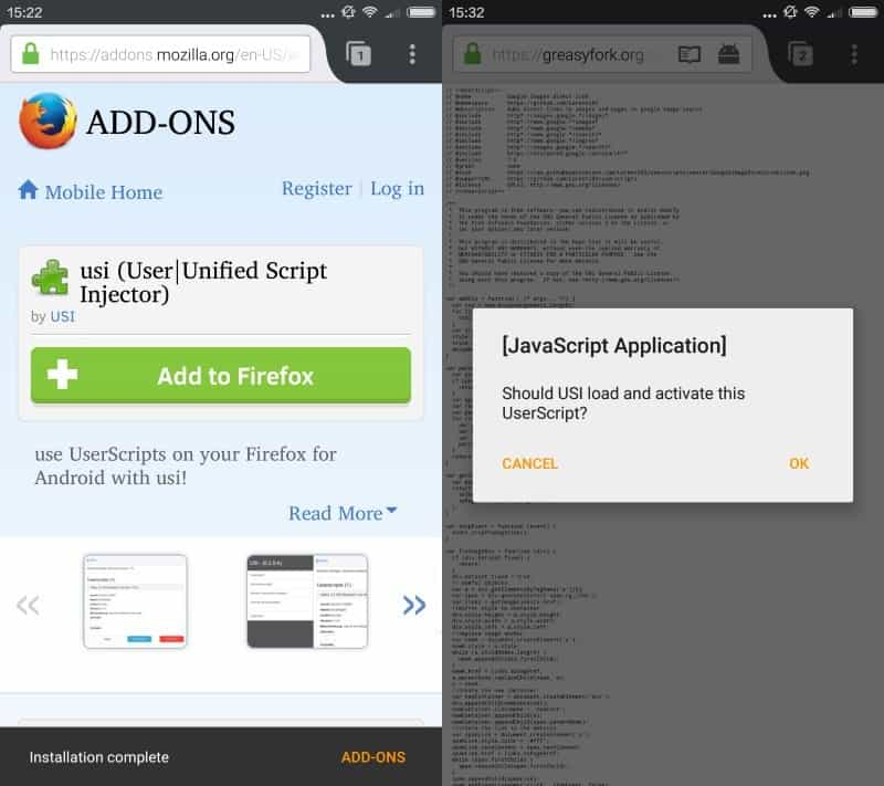 userscripts firefox for android