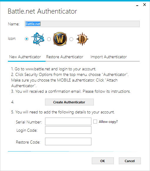 add authenticator