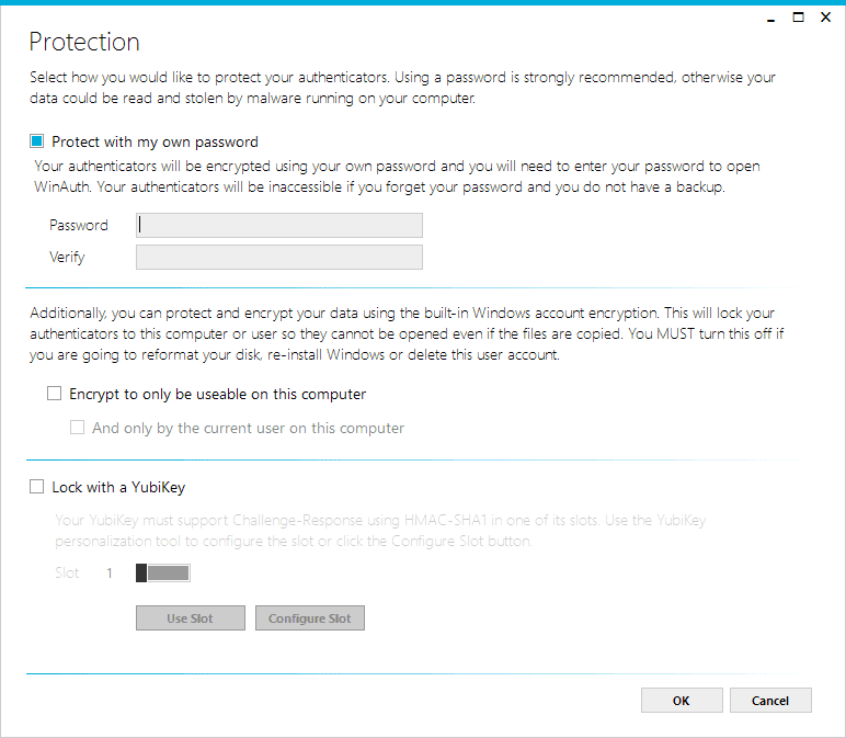 authenticator protection