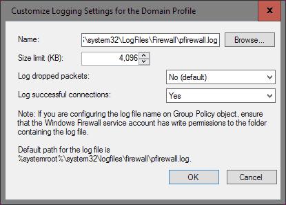 firewall enable logging